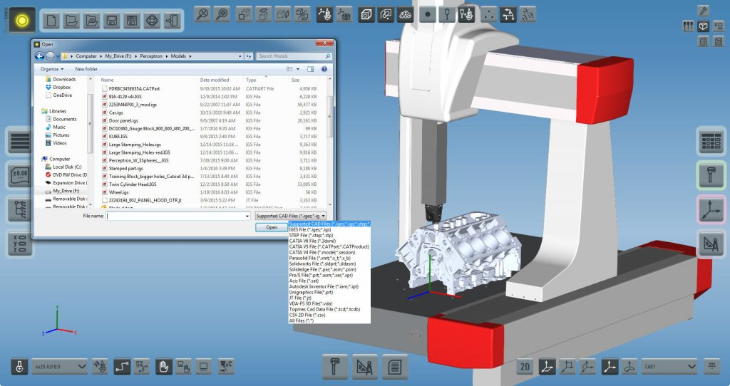 TouchDMIS Load CAD software screenshot